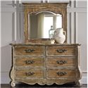Hooker Furniture Chatelet Dresser and Mirror Set - Item Number: 5300-90001+6