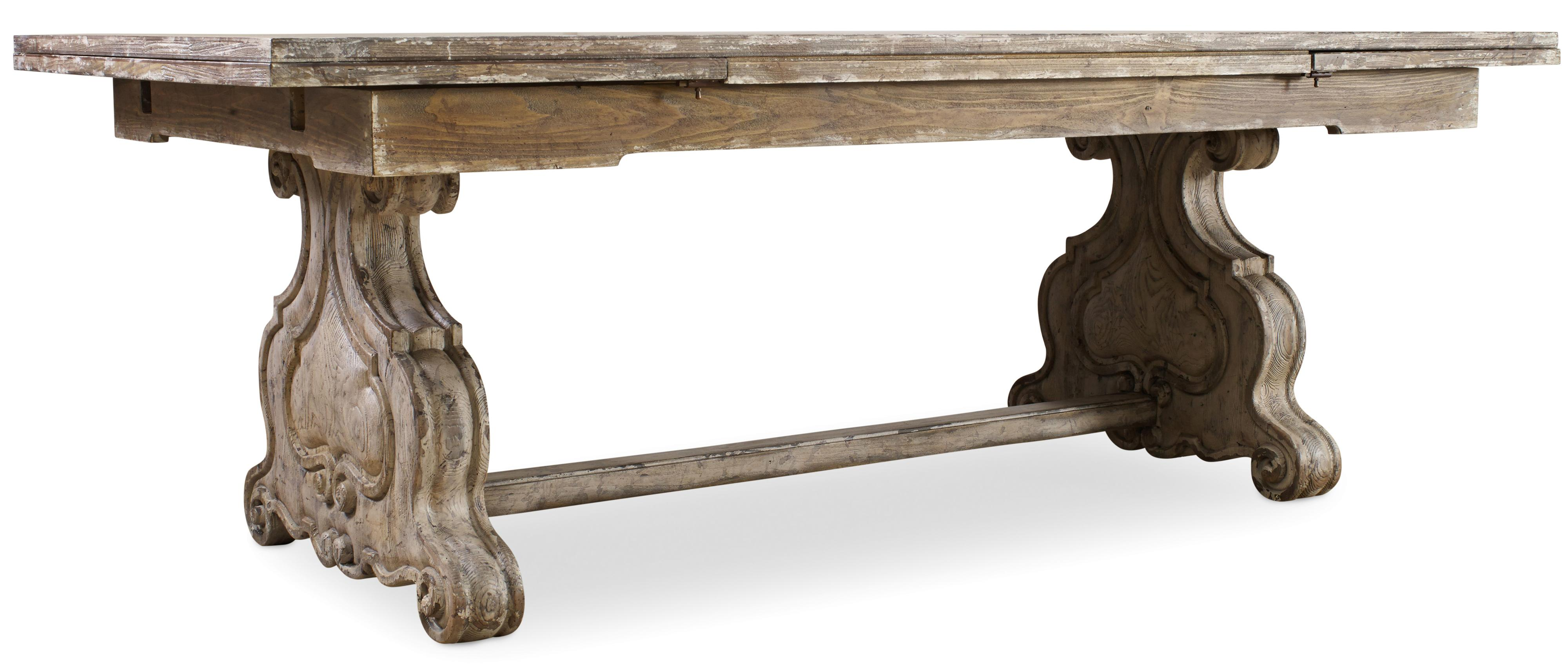 Hooker Furniture Chatelet Refectory Rectangle Trestle Dining Table - Item Number: 5350-75206