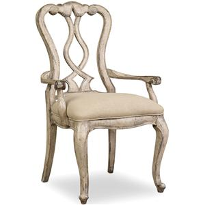 Hooker Furniture Chatelet Splatback Arm Chair