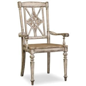 Hooker Furniture Chatelet Fretback Arm Chair