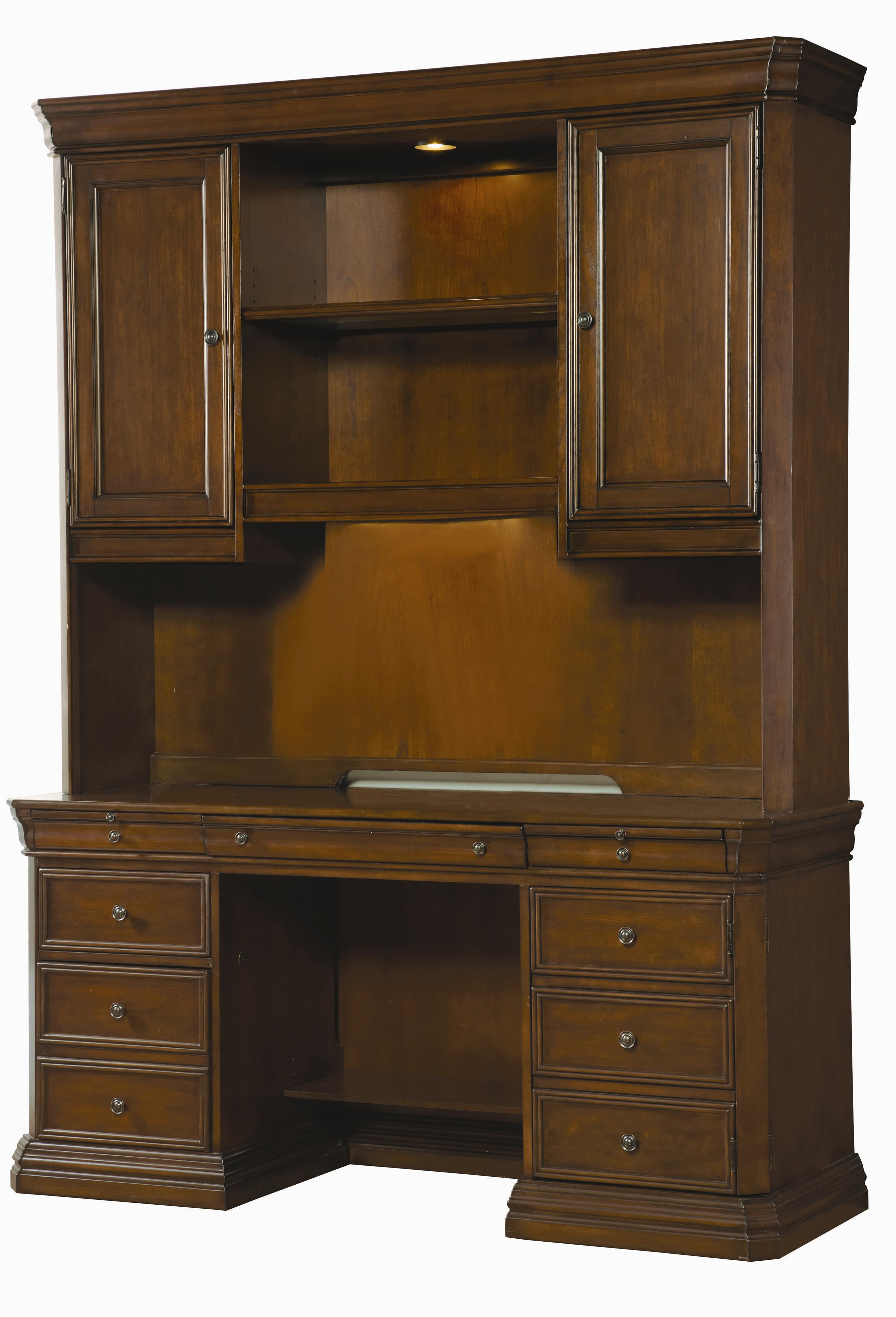 Hooker Furniture Cherry Creek  Desk and Hutch Combo - Item Number: 258-10-464+467