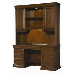Hamilton Home Cherry Creek  Desk and Hutch Combo