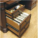 Hamilton Home Cherry Creek  Traditional Executive Desk - Writing Surface, Divided Drawer, and Filing Drawer