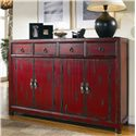 Hooker Furniture Chests and Consoles Red Asian Cabinet - Item Number: 500-50-711