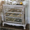 Hamilton Home Chests and Consoles Three Drawer French Mirror Chest - Item Number: 850-85-122