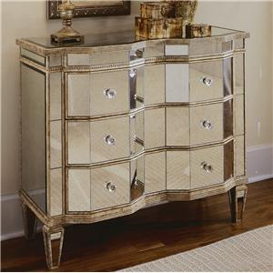 Hamilton Home Chests and Consoles Mirrored Three Drawer Chest