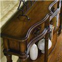 Hooker Furniture Chests and Consoles 72-Inch Hall Console with Four Drawers - Graceful Shaping Adds Visual Interest to the Piece