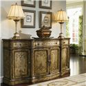 Hooker Furniture Chests and Consoles Antique Style Credenza with Gold and Silver Leaf Finish - 965-85-122