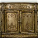 Hooker Furniture Chests and Consoles Antique Style Credenza with Gold and Silver Leaf Finish - 965-85-122 - The Gold and Silver Leaf Finish Emits a Luxurious Look