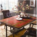 Hamilton Home Chests and Consoles Casual Table w/ Drop Leaf - Hand-painted, Red Birch Veneer Top