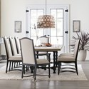 Hooker Furniture Ciao Bella 9-Piece Table and Chair Set - Item Number: 5805-75200-80+2x300+6x310-99