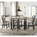Hooker Furniture Ciao Bella 5-Piece Counter Pub Table Set - Item Number: 5805-75206-80+4x75351-99