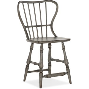 Spindle Back Counter Stool