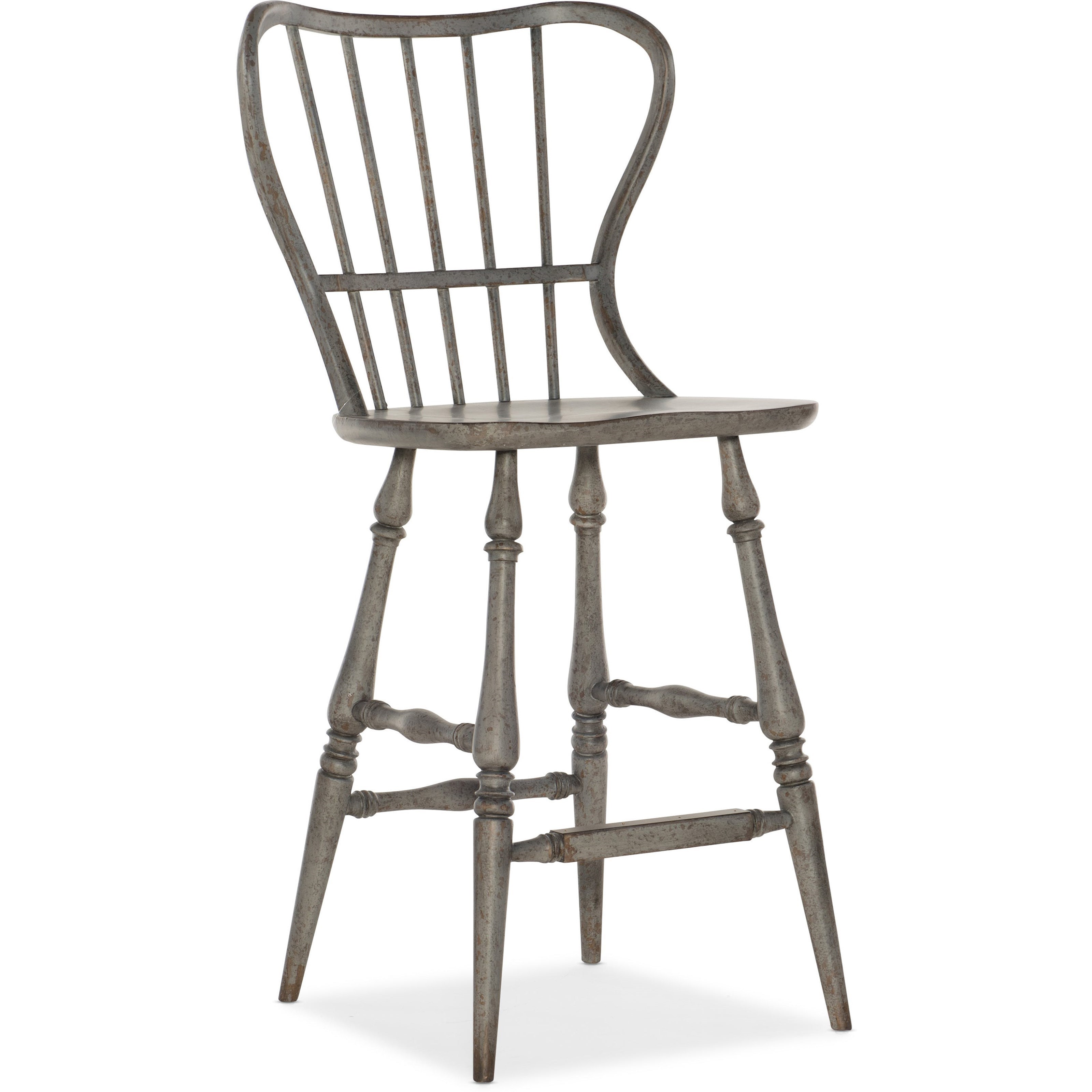 Ciao Bella Spindle Back Bar Stool by Hooker Furniture at Story & Lee Furniture