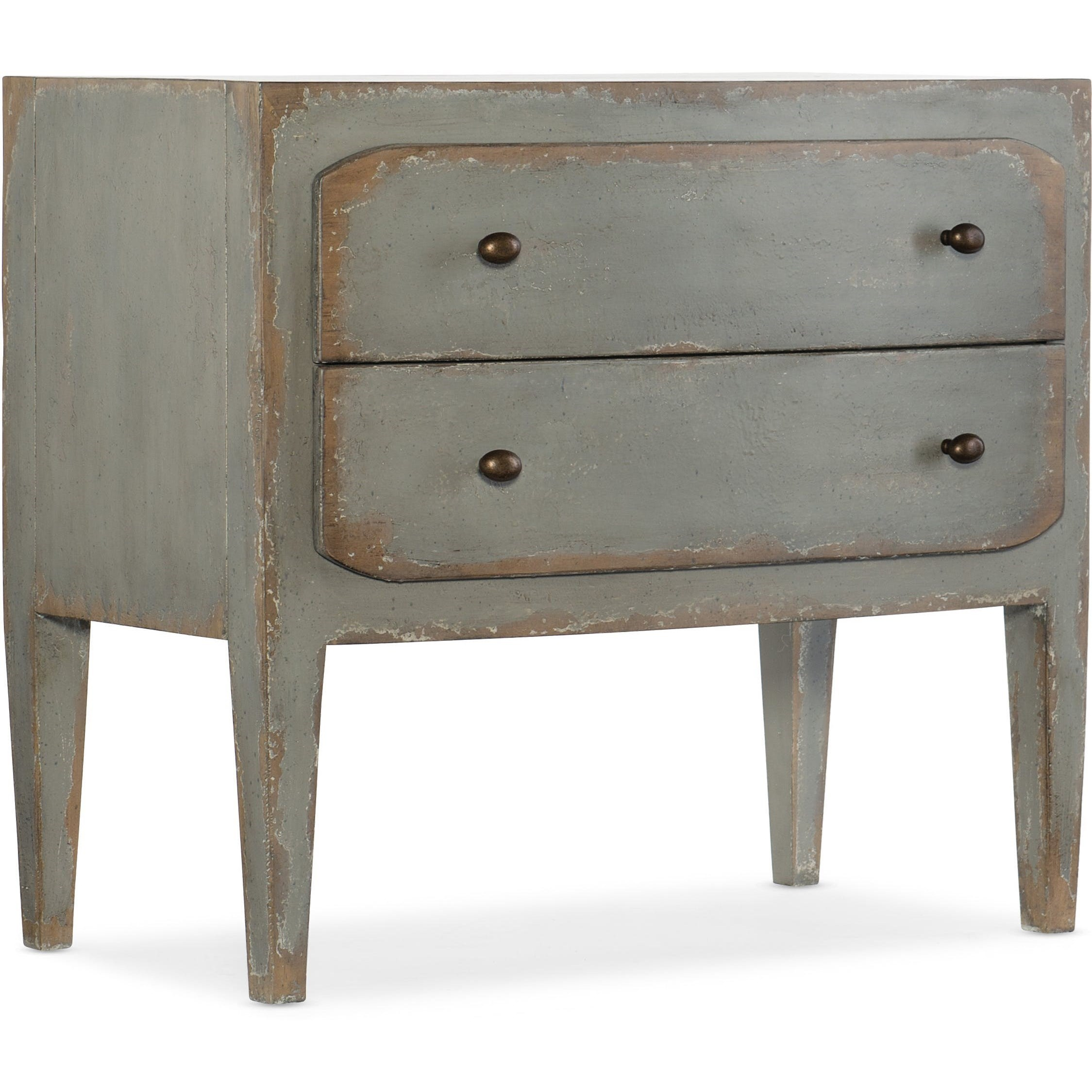 Ciao Bella Rustic 2-Drawer Nightstand by Hooker Furniture at Stoney Creek Furniture