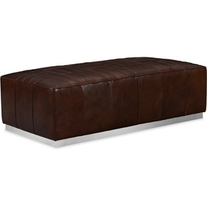 Billy Leather Cocktail Ottoman