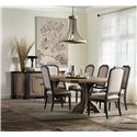 Hamilton Home Corsica Rectangle Pedestal Dining Table with 2 20 Inch Leaves