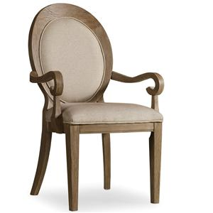 Oval Back Arm Chair