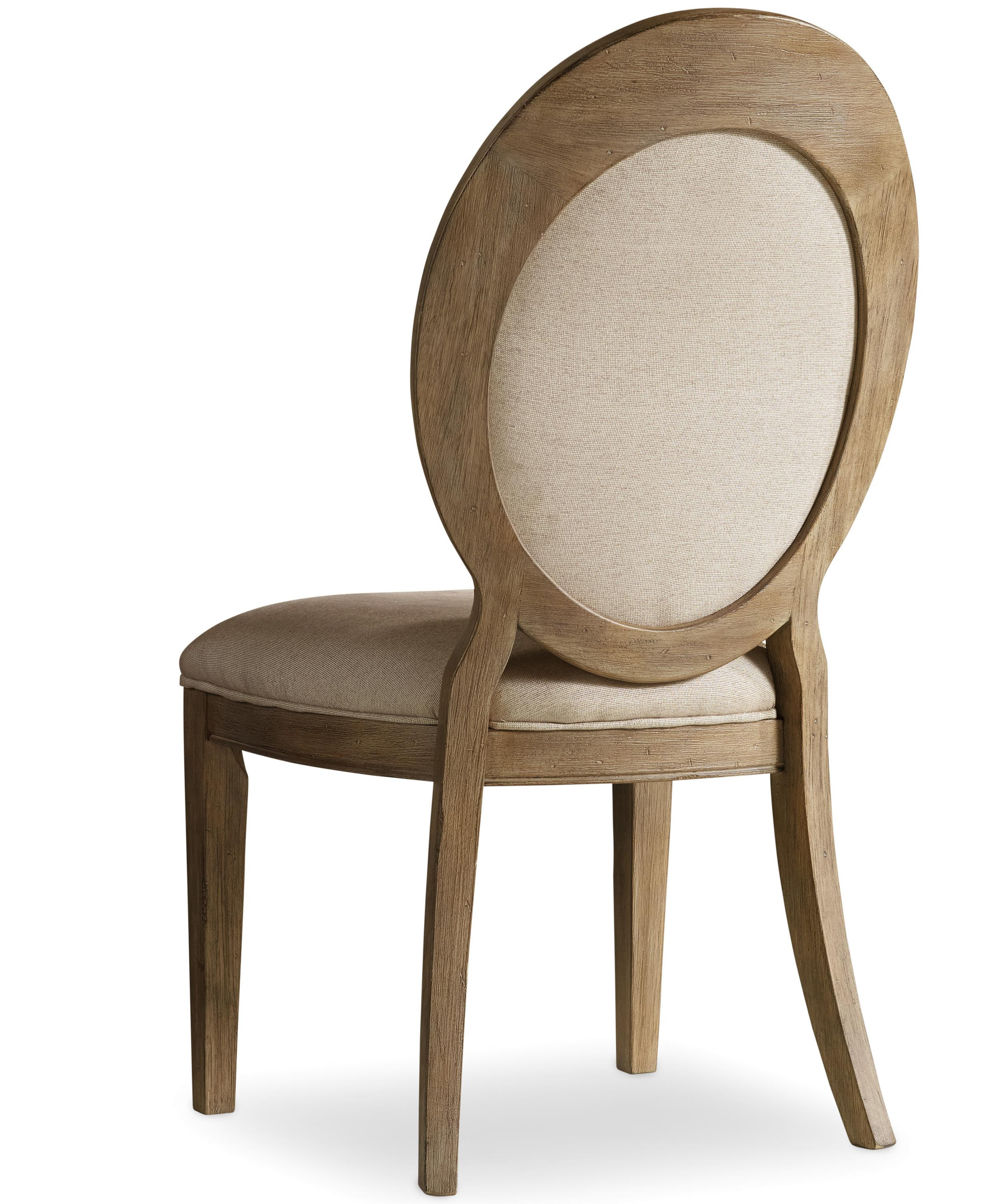 Corsica Oval Back Side Chair by Hooker Furniture at Stoney Creek Furniture