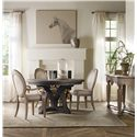 Hooker Furniture Corsica Round Dining Table with 1 18 Inch Leaf