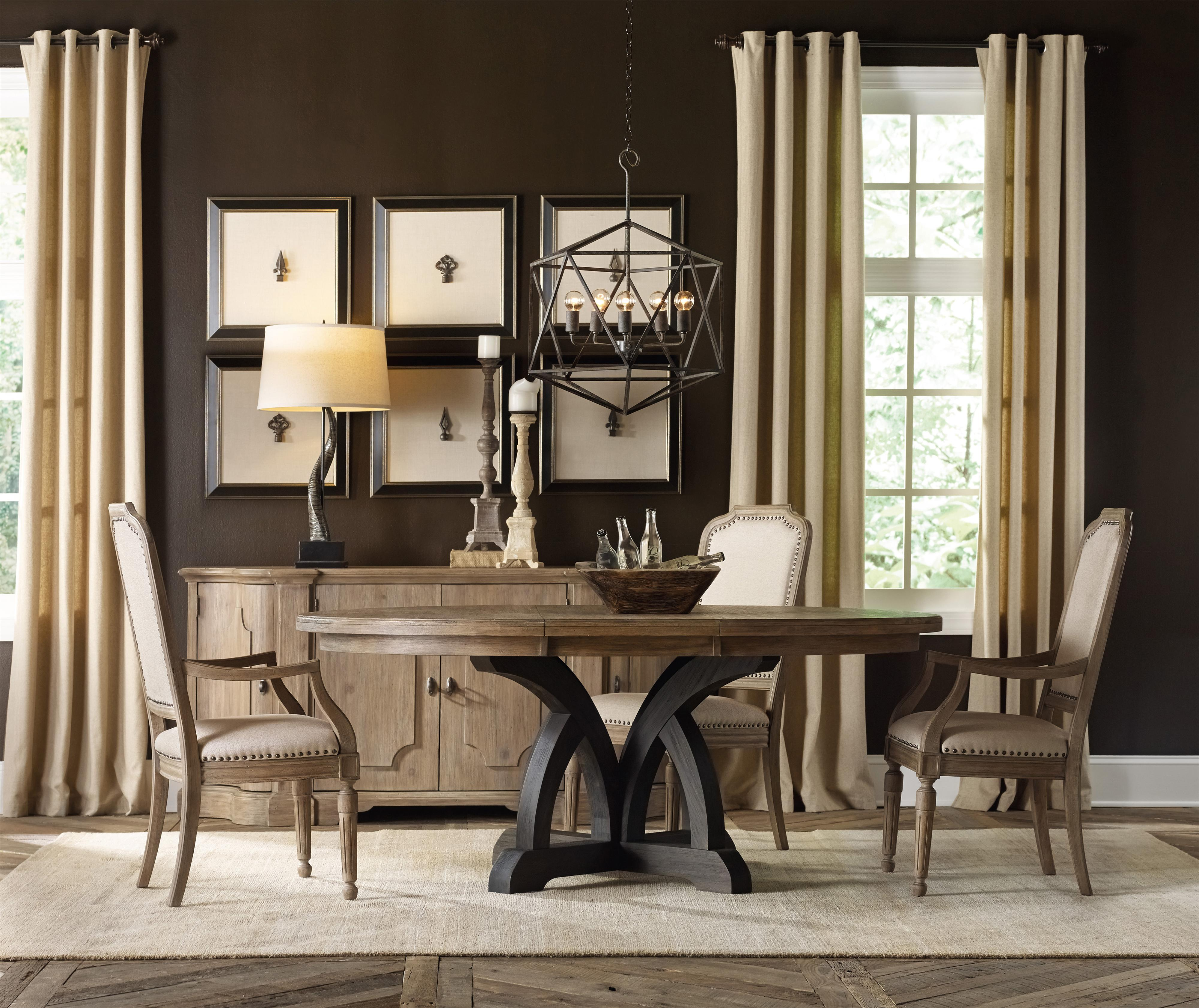 Hooker Furniture Corsica Round Dining Table with 1 18 Inch  : products2Fhookerfurniture2Fcolor2Fcorsica2051805280 75213 b3 from www.belfortfurniture.com size 4000 x 3363 jpeg 1417kB