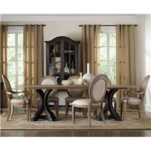 Hamilton Home Corsica Rectangle Pedestal Dining Table Set