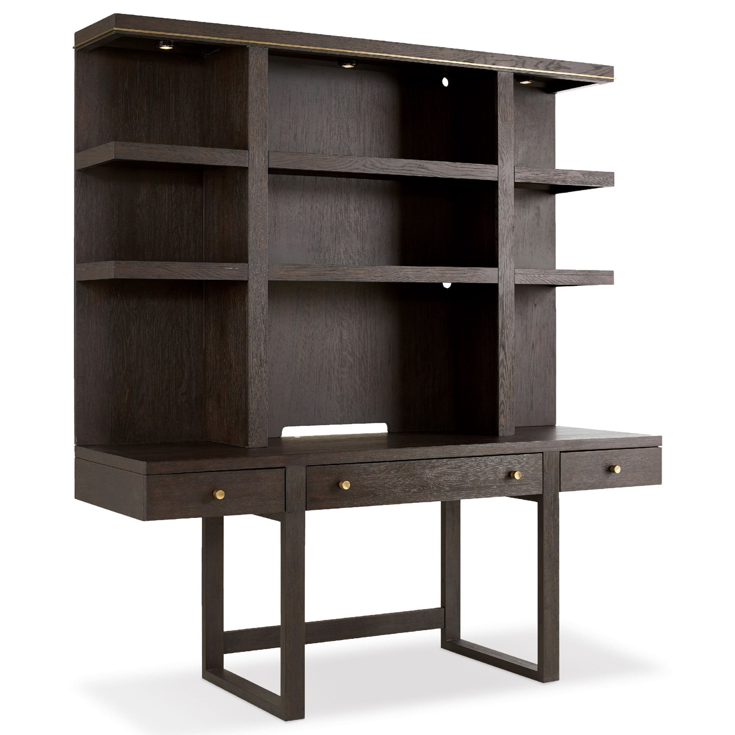 Curata Wall Desk with Hutch by Hooker Furniture at Stoney Creek Furniture