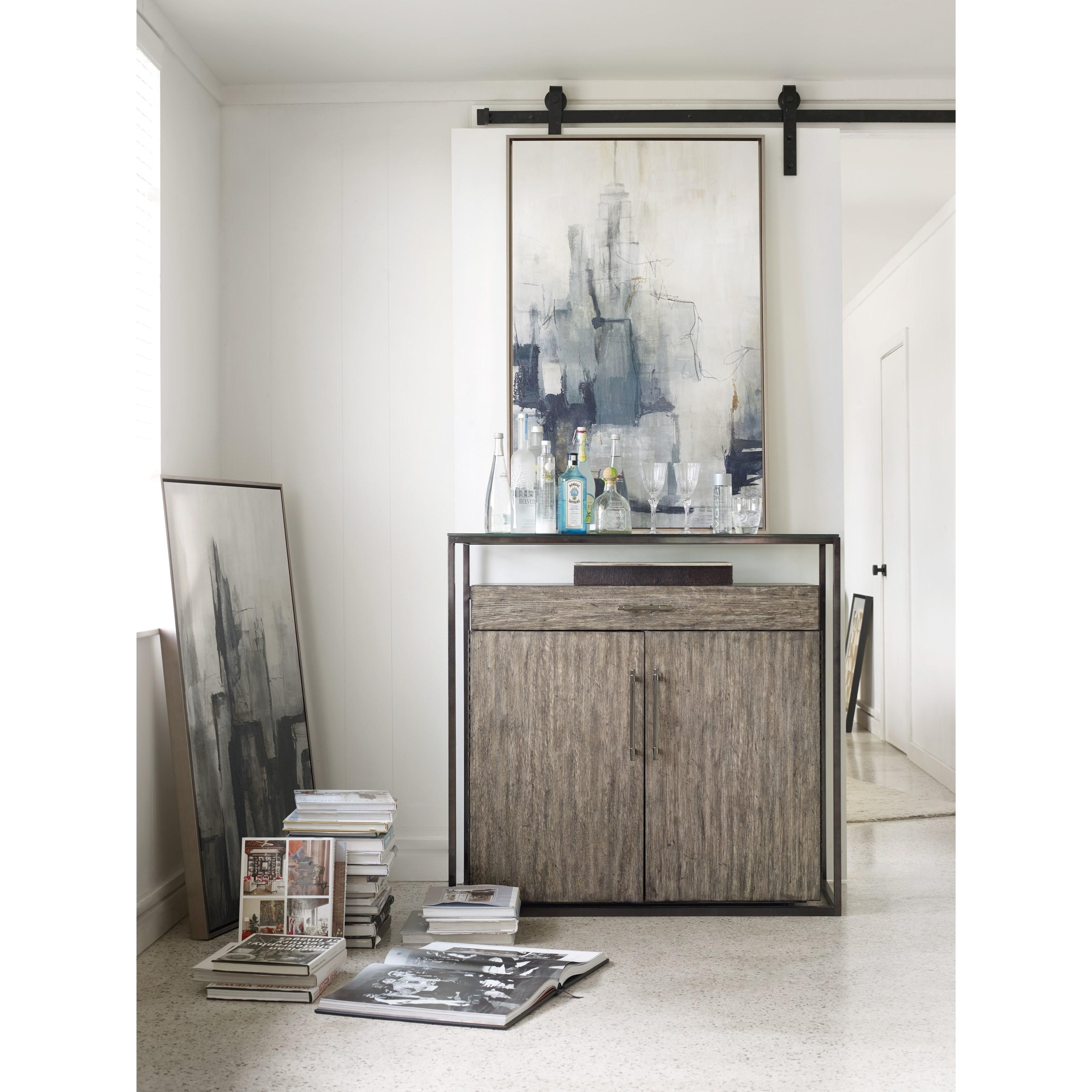 Hooker Furniture Curata 1600-50001-MWD Modern Bar Cabinet