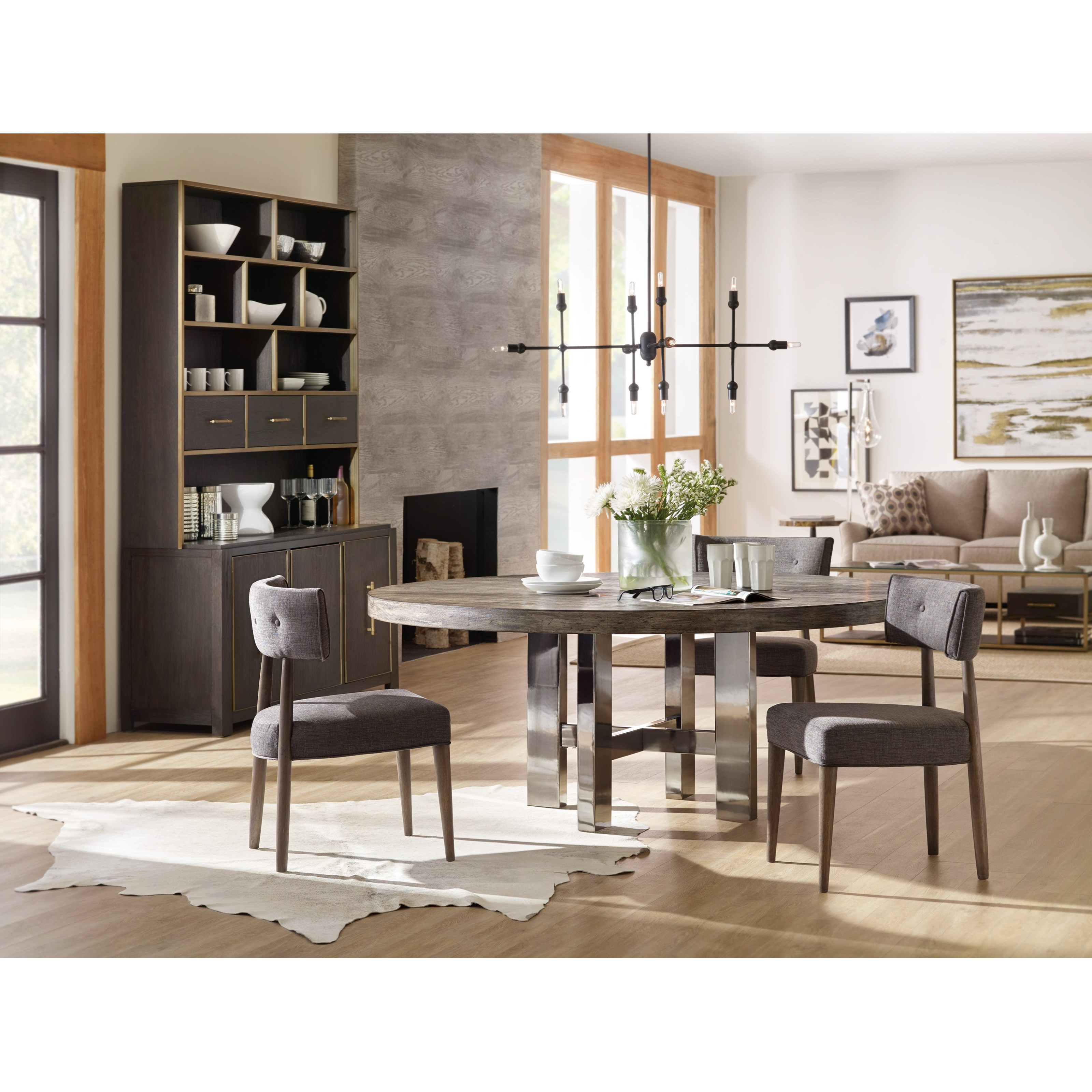 Huge Dining Room Tables: Hamilton Home Curata Large Modern Round Dining Table