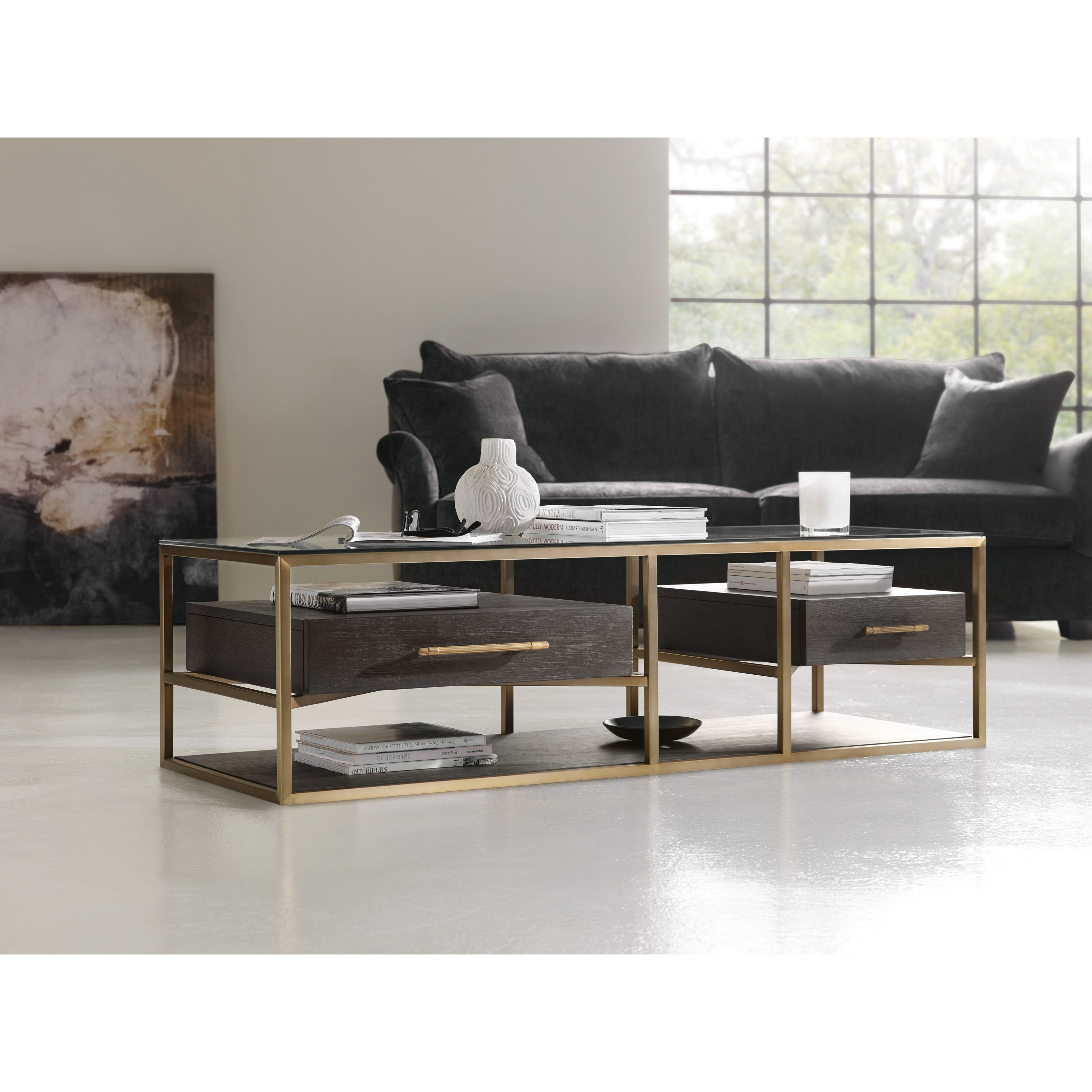 Hooker Furniture Curata Modern Rectangle Cocktail Table Zak 39 S Fine Furniture Cocktail Coffee