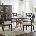 Hooker Furniture Curvee 5-Piece Table and Chair Set - Item Number: 5834-75213-89+4x75310-89