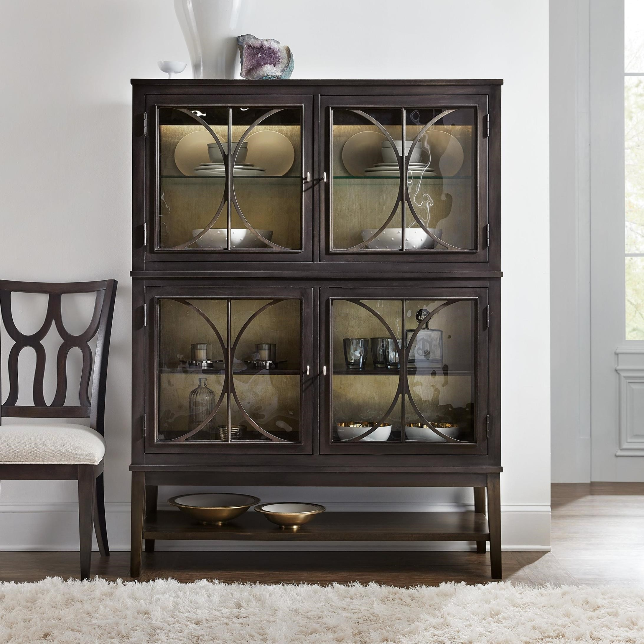 Hooker Furniture Curvee Glam Display Cabinet with Built-In ...