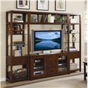 Hooker Furniture Danforth Entertainment Console  - Shown with Right/Left Piers & Bridge