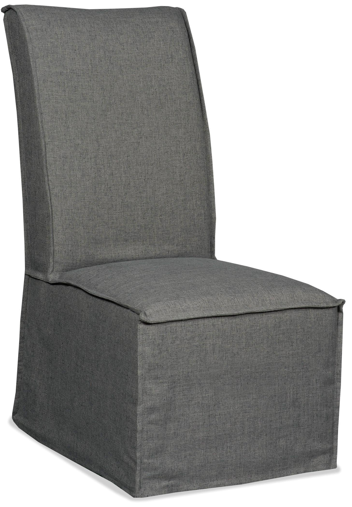 Hooker Furniture Decorator Chairs   Zuma Charcoal Armless Dining Chair - Item Number: 300-350099