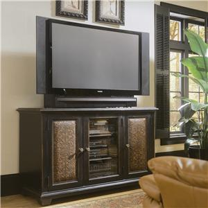 Hooker Furniture Decorator Group Plasma Console - Black W/Leather