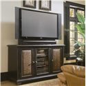 Hooker Furniture Decorator Group Plasma Console - Black W/Leather - Item Number: 370-55-457