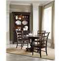 Hamilton Home Eastridge Round Pedestal Dining Table with Reeded Pedestal