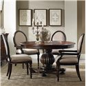 Hamilton Home Eastridge Round Pedestal Dining Table Set - Item Number: 5177-75206+2X75400+2X75410