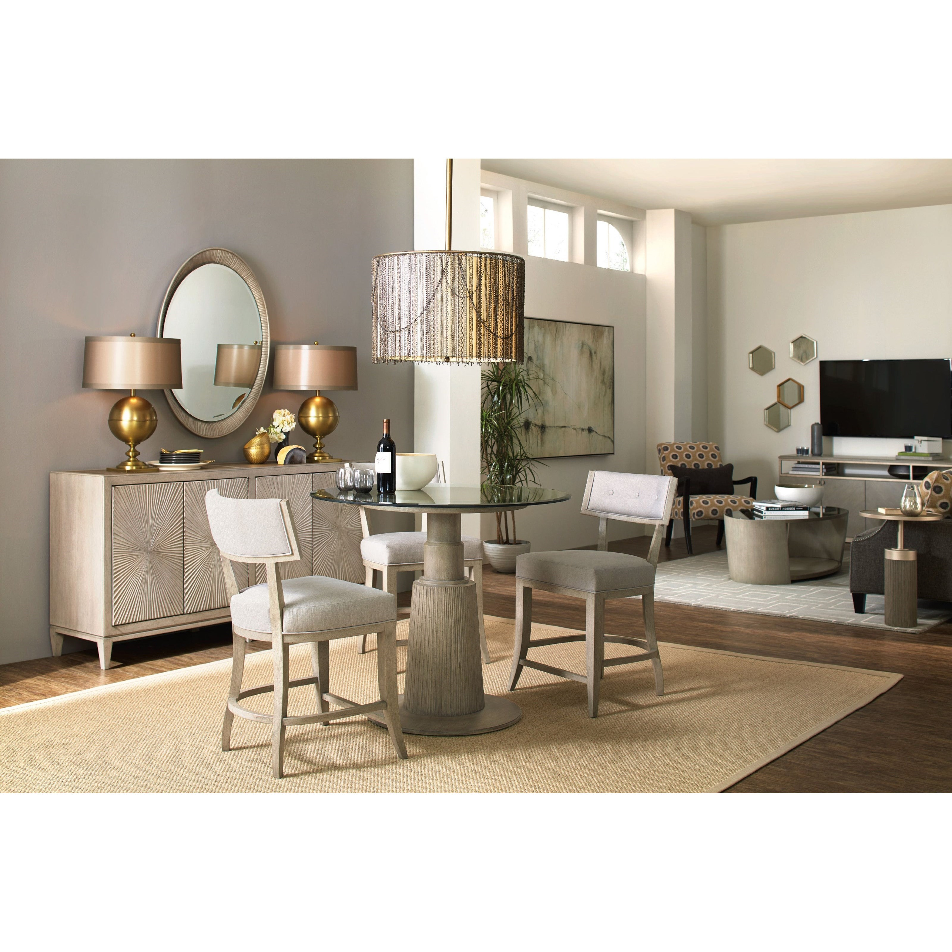 Hooker Furniture Elixir Klismos Upholstered Counter Stool