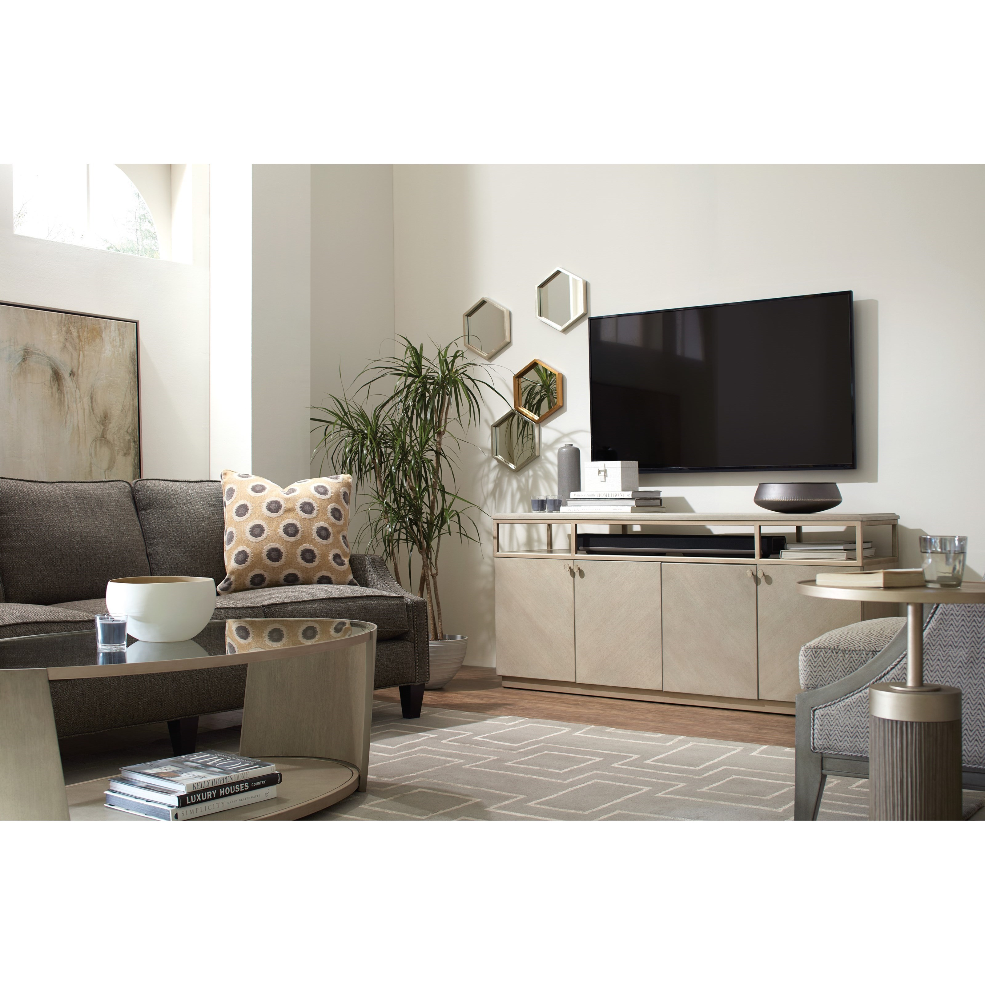 Hooker Furniture Elixir Entertainment Console With Built In Outlet Belfort Furniture Tv Stands