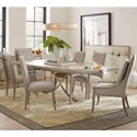 Hooker Furniture Elixir 7 Piece Dining Set - Item Number: 5990-75200+2x500+4x410A