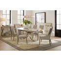 Hooker Furniture Elixir 80in Rectangular Dining Table with Metal Base