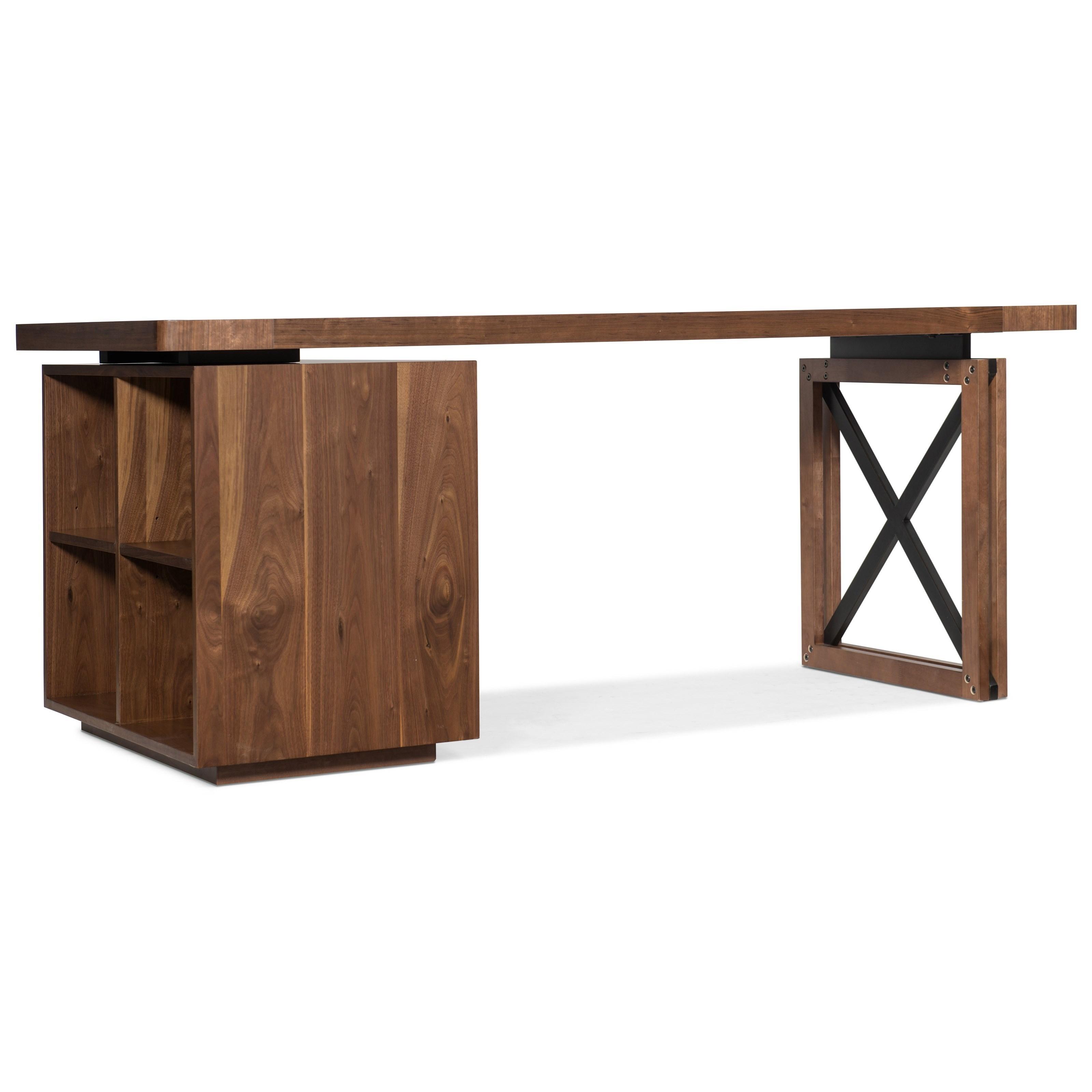 Elon Single Pedestal Desk by Hooker Furniture at Baer's Furniture