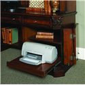 Hooker Furniture European Renaissance II Office Desk with Hutch - Pull-Out Printer Tray