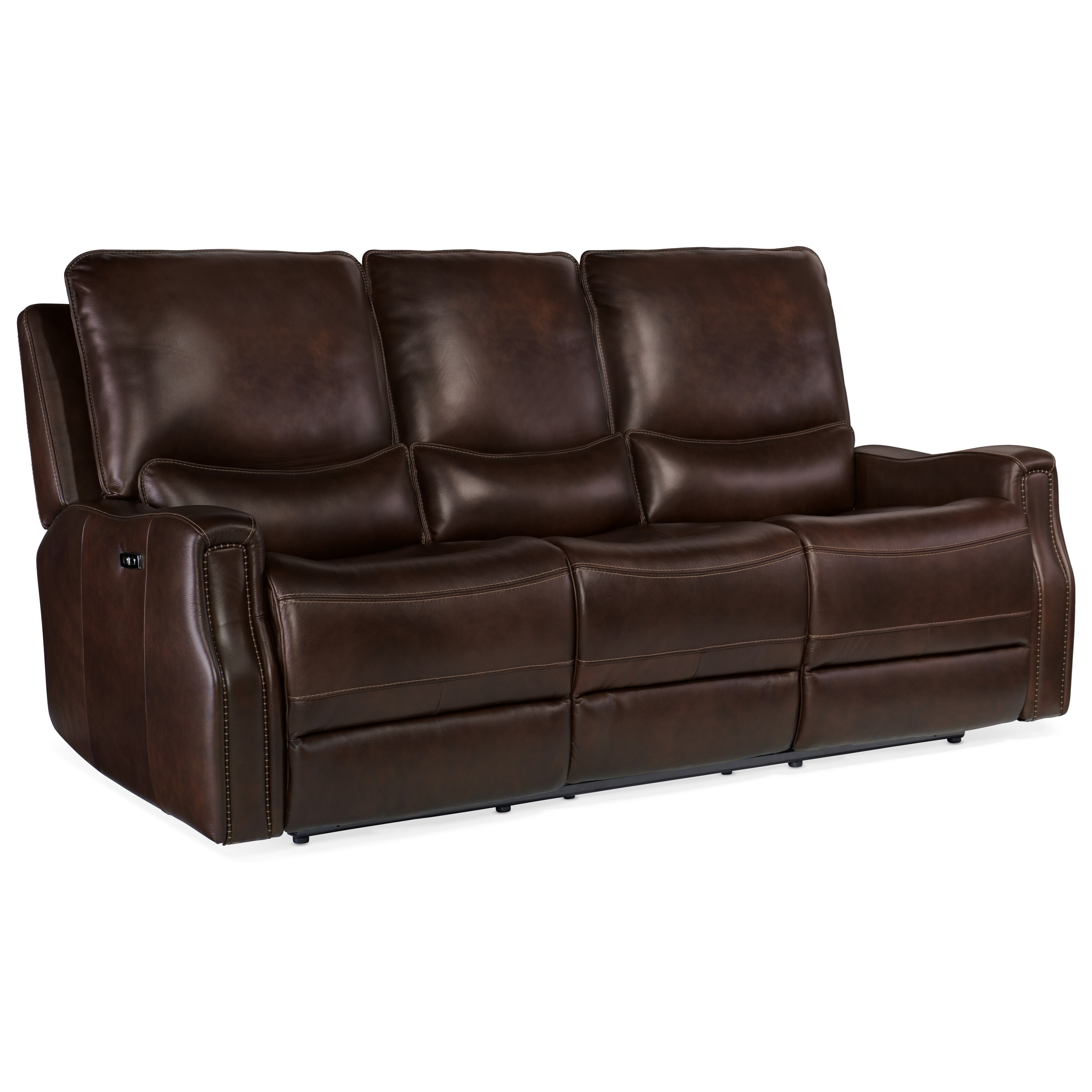 Gage Power Recline Sofa by Hooker Furniture at Baer's Furniture