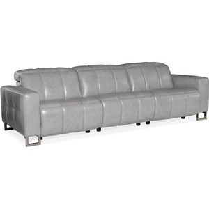 Motion Leather Sofa with Power Headrest