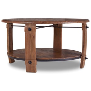 Round Wine Barrel Cocktail Table