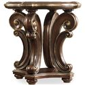 Hooker Furniture Grand Palais Round End Table with Scroll Shaping