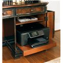 Hooker Furniture Grandover Computer Credenza with Locking File Drawer, CPU Storage Door with Pull-Out Printer Tray and 3 Utility Drawers - Adjustable Shelf and Pull-Out Printer Tray
