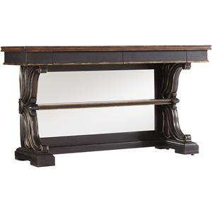 Hooker Furniture Grandover Mirrored Back Console